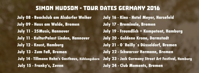 Germany tour announced!