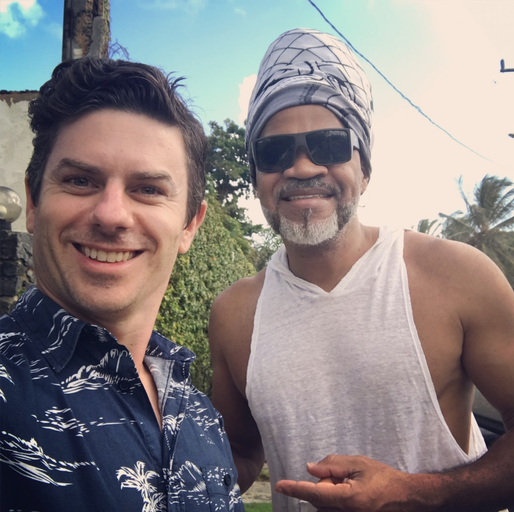 Simon Hudson with Carlinhos Brown, Brazil